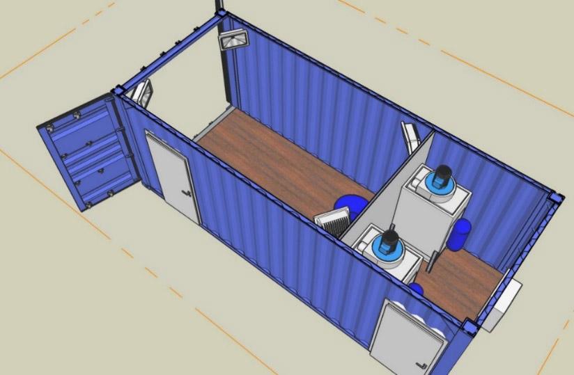 Container Zeichnung
