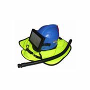 Sandstrahler-Schutzhelm Modell S6 Blau